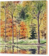 Autumn Oranges Wood Print
