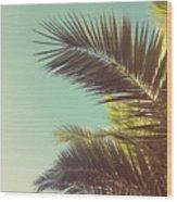Autumn Palms Wood Print