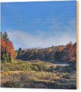Autumn Panorama At The Green Bridge Wood Print