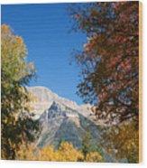 Autumn Peaks Wood Print