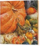 Autumn - Pumpkin - All Of My Relatives Wood Print