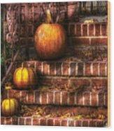 Autumn - Pumpkin - Three Pumpkins Wood Print