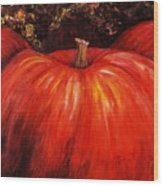 Autumn Pumpkins Wood Print