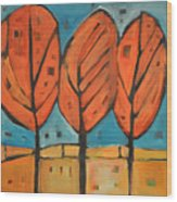 Autumn Quilt Wood Print