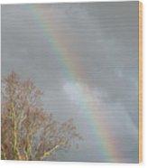 Autumn Rainbow In West Virginia Wood Print