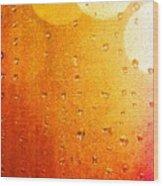 Autumn Raindrops Wood Print