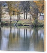 Autumn Reflection 16 Wood Print