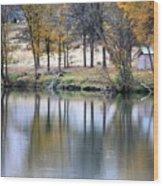 Autumn Reflection 16 Wood Print