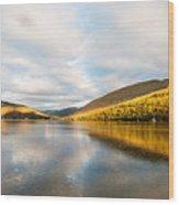 Autumn Reflection At Arrochar Wood Print