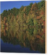 Autumn Reflection Of Colors Wood Print