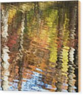 Autumn Reflections-3 Wood Print
