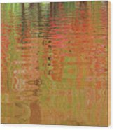 Autumn Reflections Abstract Wood Print
