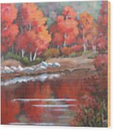 Autumn Reflexions 2 Wood Print