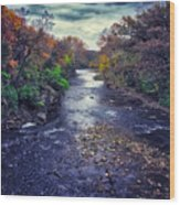 Autumn Riders On The Storm Wood Print