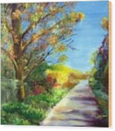 Autumn Roads Wood Print