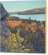 Autumn Rocks Booth's Rock Lookout Wood Print