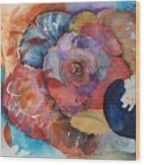 Autumn Rose Wood Print