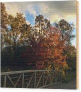 Autumn Rust Wood Print