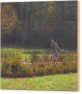 Autumn Scarecrow Wood Print