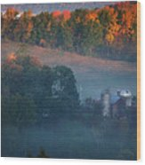 Autumn Scenic - West Rupert Vermont Wood Print