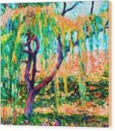 Autumn Season Wood Print