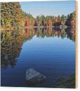 Autumn Serenity In Maine Usa Wood Print