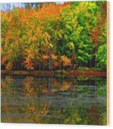 Autumn Sings Wood Print