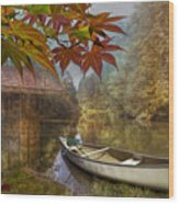 Autumn Souvenirs Wood Print by Debra and Dave Vanderlaan