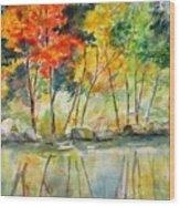 Autumn Splender Wood Print