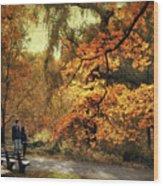 Autumn Splendor Promenade Wood Print