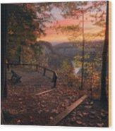 Autumn Sunrise Wood Print