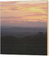 Autumn Sunrise Over The Ozarks Wood Print