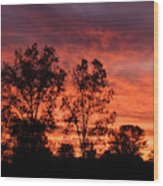 Autumn Sunset Wood Print