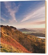 Autumn Sunset At Sutton Bank Wood Print