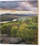 Autumn Sunset In The Catskills Wood Print