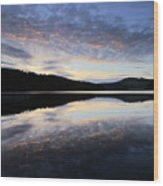 Autumn Sunset, Ladybower Reservoir Derwent Valley Derbyshire Wood Print