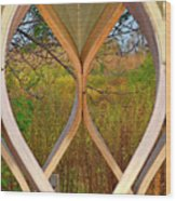 Autumn Symmetry Wood Print