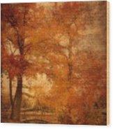 Autumn Tapestry - Lake Carasaljo Wood Print