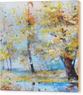 Autumn Tenderness Wood Print