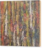Autumn Trees Wood Print