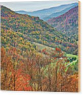 Autumn Valley Wood Print