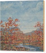 Autumn View. Wood Print