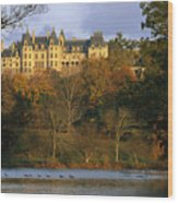 Autumn View Of The Biltmore Wood Print by Melissa Farlow