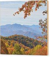 Autumn View Of The Smokies Wood Print