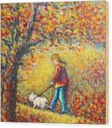 Autumn Walk  Wood Print