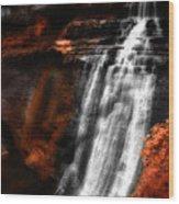Autumn Waterfall 3 Wood Print