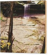 Autumn Waterfall II Wood Print