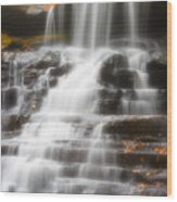 Autumn Waterfall II Wood Print