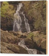 Autumn Waterfall In The Great Smoky Mountains Wood Print