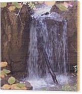 Autumn Waterfall Wood Print